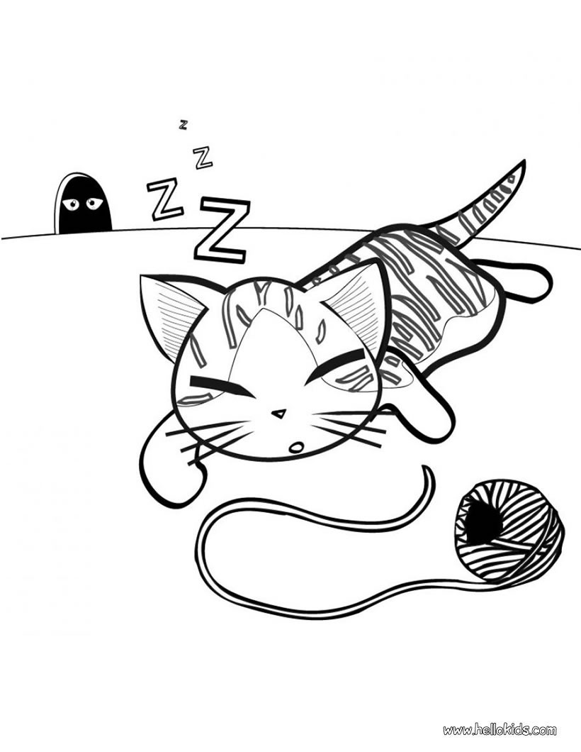 820x1060 Cute Kitten Coloring Pages