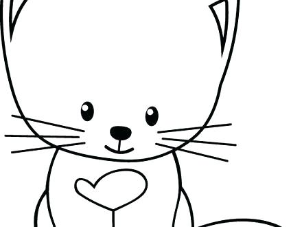 440x330 Kitten Color Pages Printable Cute Baby Kitten Coloring Pages Cute