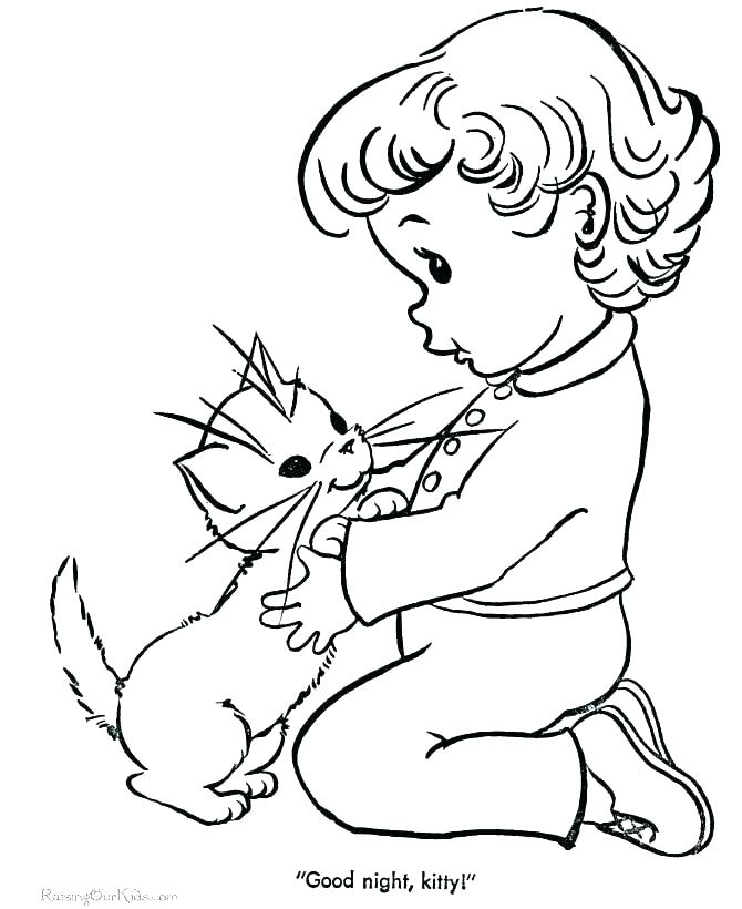 670x820 Kitten Coloring Page Cute Kitten Coloring Pages Cat And Kitten