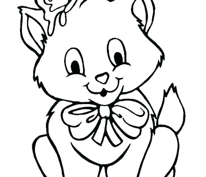 700x600 Coloring Pages Of Kittens Kitten Color Pages Cute Puppies
