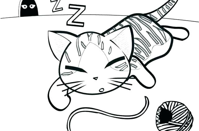 640x420 Kitten Coloring Pages Printable Kitten Coloring Page Kitten