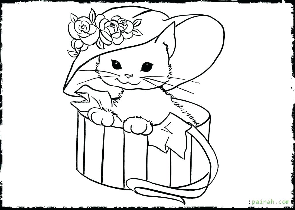 1024x728 Cute Kittens Coloring Pages