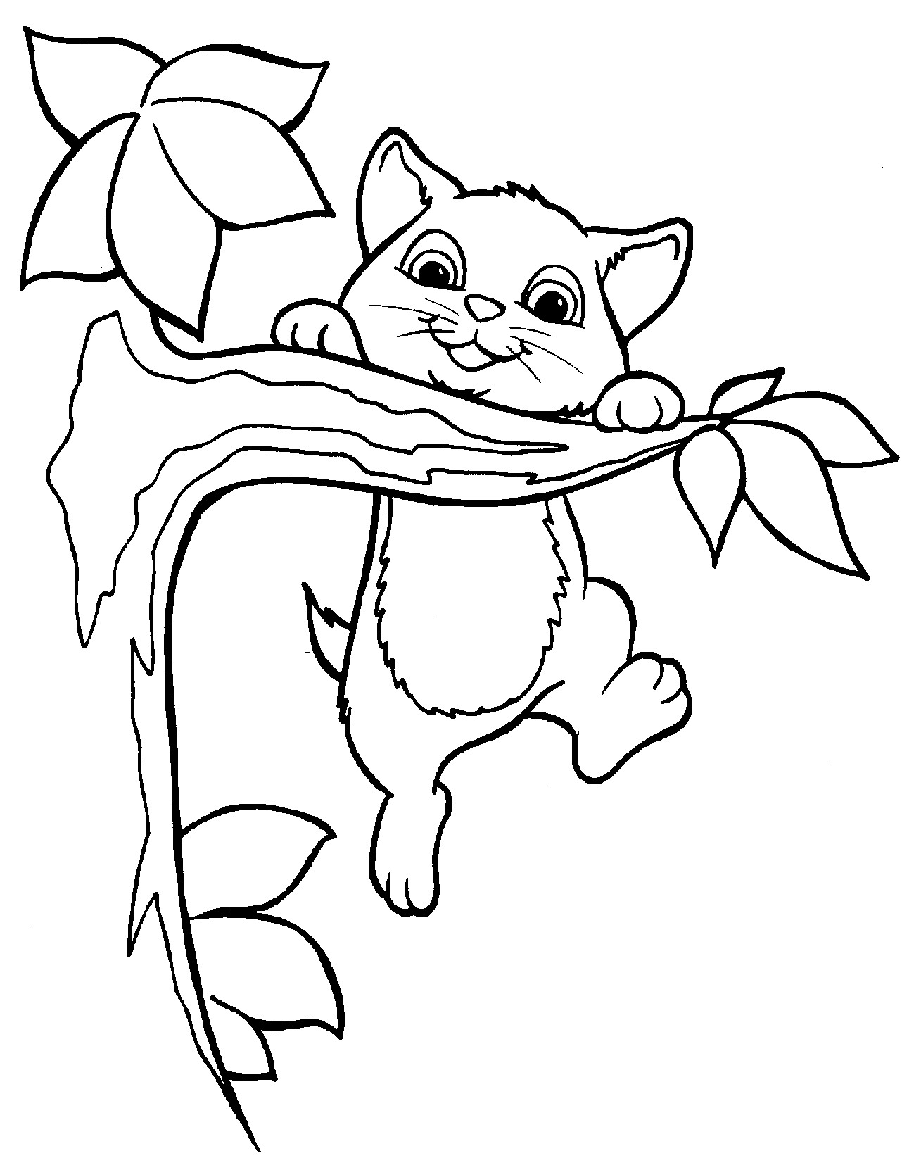 1282x1662 Cute Kitten Coloring Pages