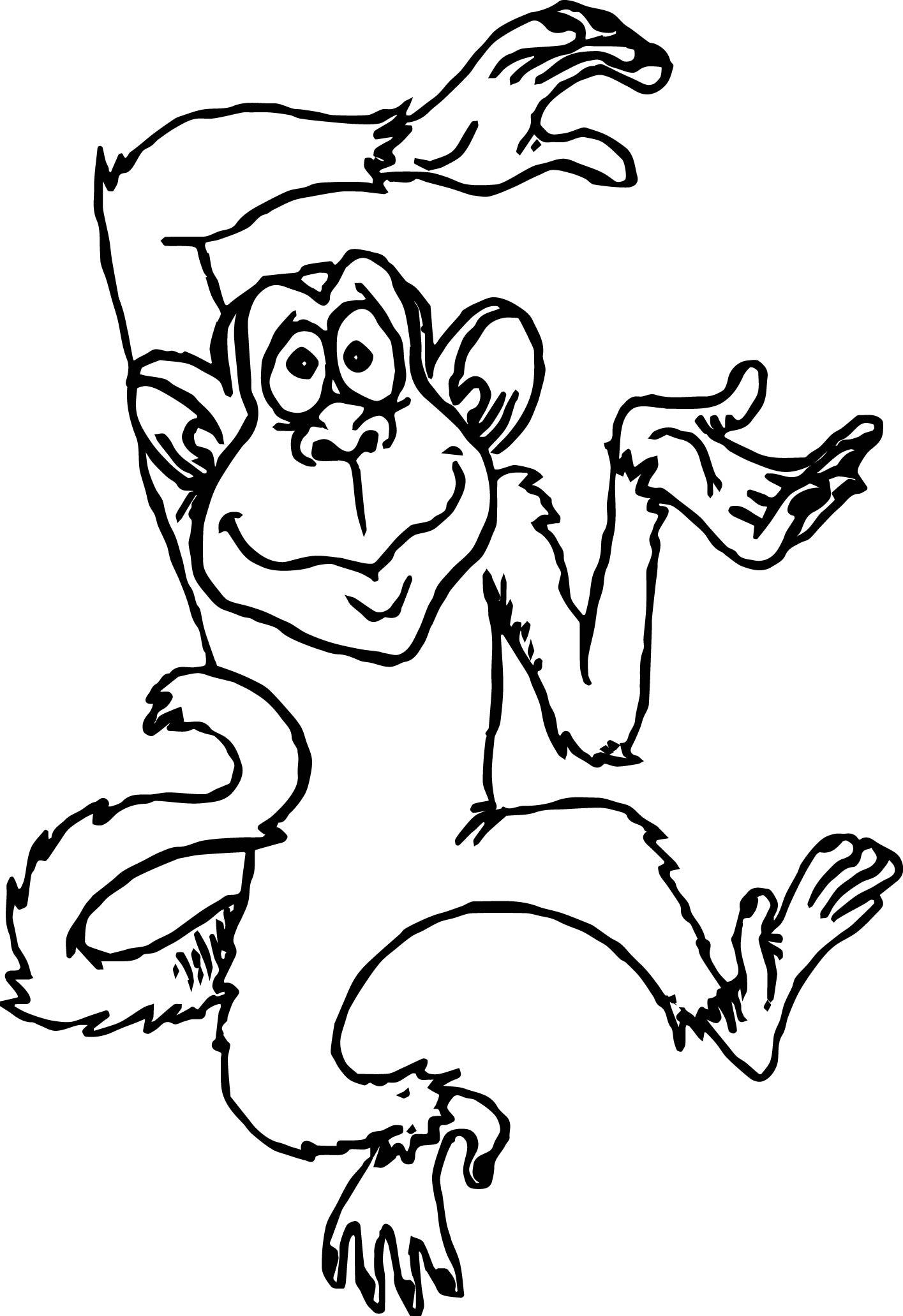 1415x2063 Cute Monkey Cartoons Monkey Coloring Page Wecoloringpage