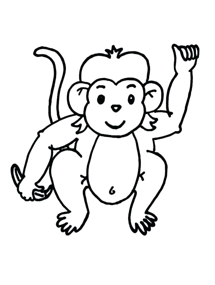 689x915 Cute Monkey Coloring Pages Free Monkey Coloring Pages Spider