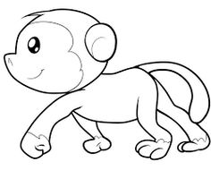 236x190 Monkey Coloring Pages Monkey With Banana Coloring Page