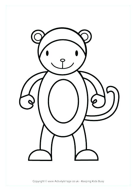 460x650 Coloring Page Monkey Coloring Trend Medium Size Cute Prints Best