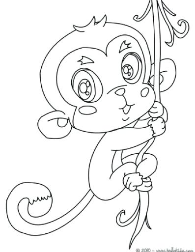 397x513 Coloring Pages Of Baby Monkeys Monkey Coloring Pages Cute Baby