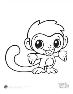 236x305 Cute Baby Monkey Free Coloring Pages On Art Coloring Pages
