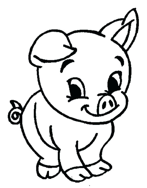 Coloring Pages Of Cute Pigs