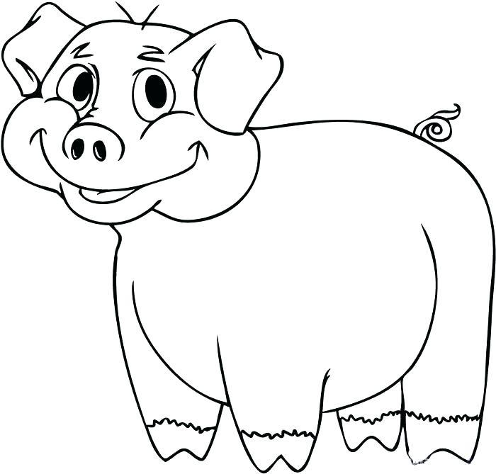 700x669 Cute Pig Coloring Pages Pig Coloring Pages Pig Coloring Cute Pig