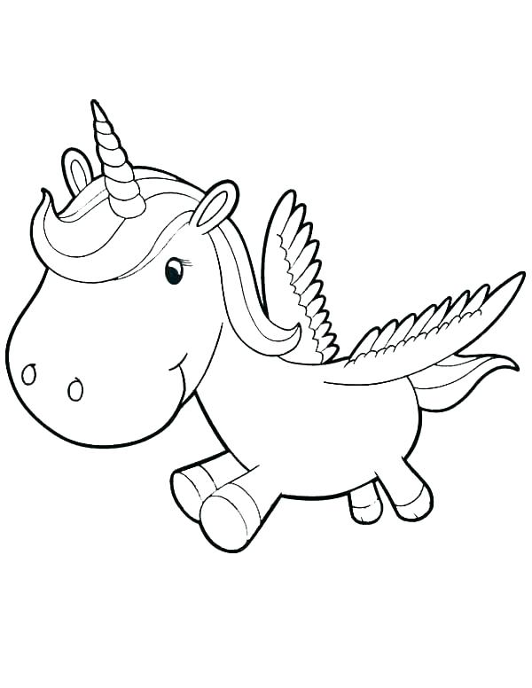 Coloring Pages Of Cute Unicorns