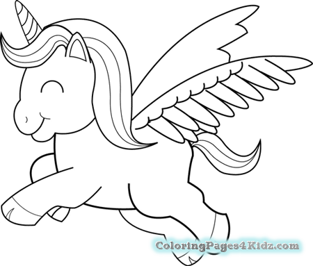 Coloring Pages Of Cute Unicorns at GetDrawings.com | Free for ...