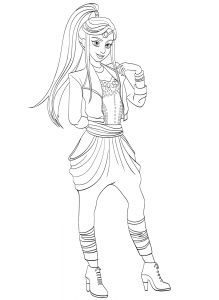 219x300 Mal Descendants Coloring Page Free Movie Coloring Pages