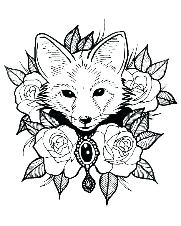 615x767 Detailed Flower Coloring Pages Detailed Coloring Pages Baby Animal