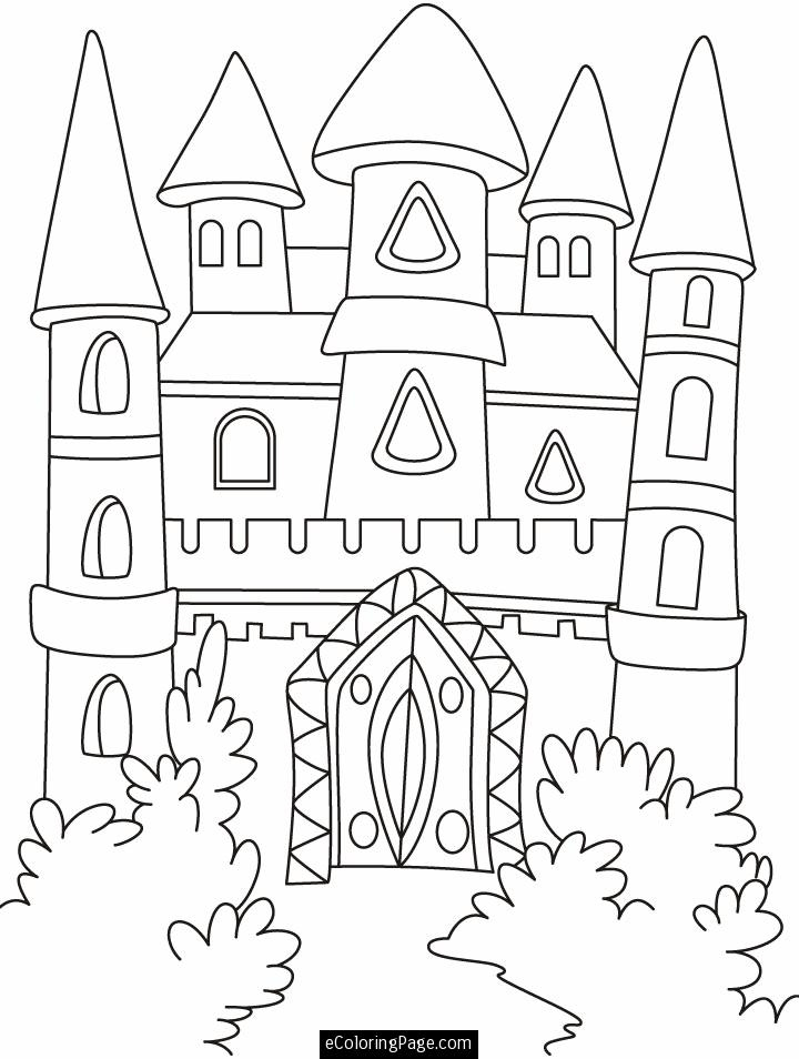 Coloring Pages Of Disney Castle