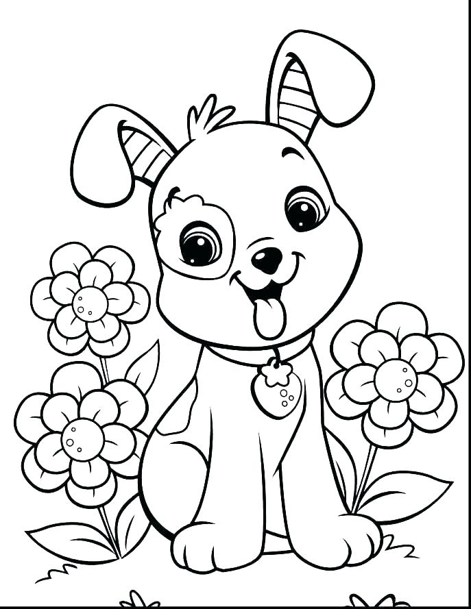 687x889 Coloring Pages Dogs And Cats Cats And Dogs Coloring Pages Dog Cat