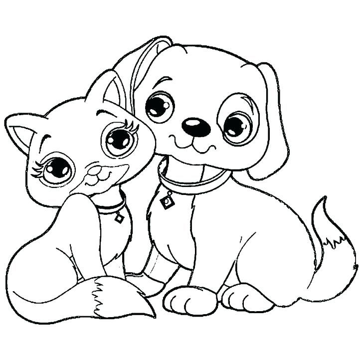 728x728 Coloring Pages Dogs Dog And Cat Coloring Pages Printable Coloring