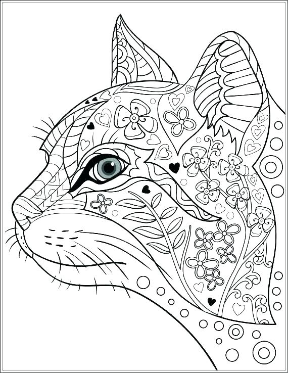 570x738 Dog Coloring Pages For Adults Printable Adult Colouring Pages