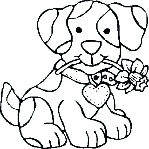 618x618 Dog Coloring Pages Free