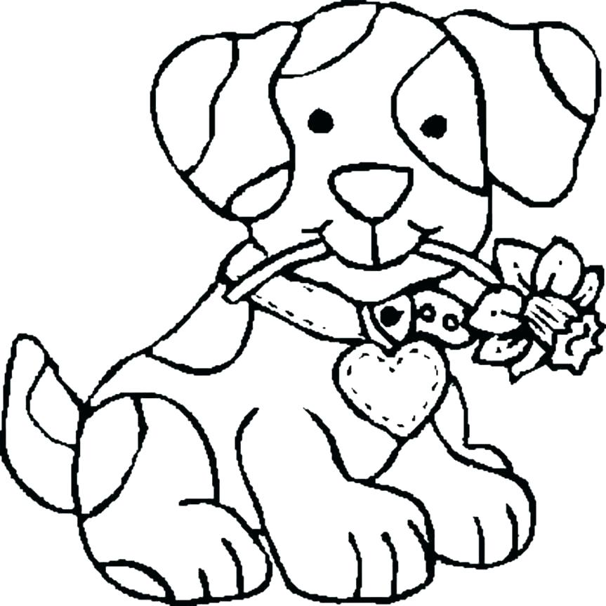 863x863 Cats And Dogs Printable Coloring Pages Dog Of Es Flowers E Within