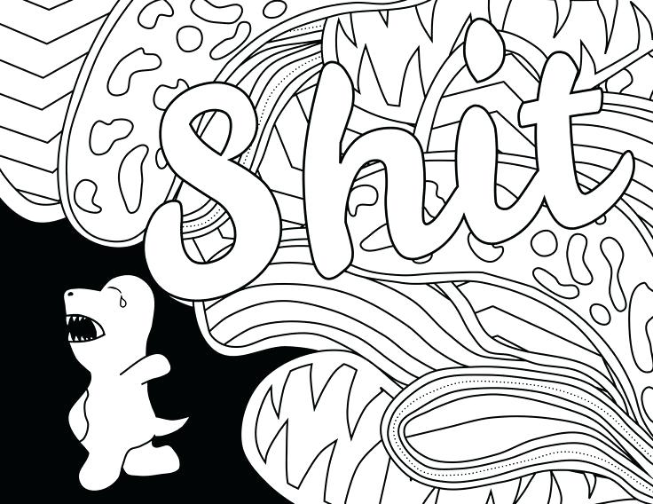736x568 Coloring Page Dollar Bill Shit Swear Word Coloring Page Adult