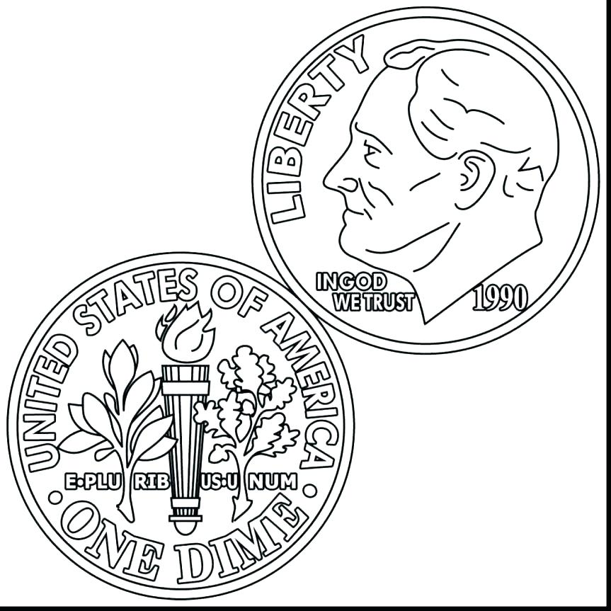 863x863 Money Coloring Pages Dollar Bill Coloring Page Dollar Coloring