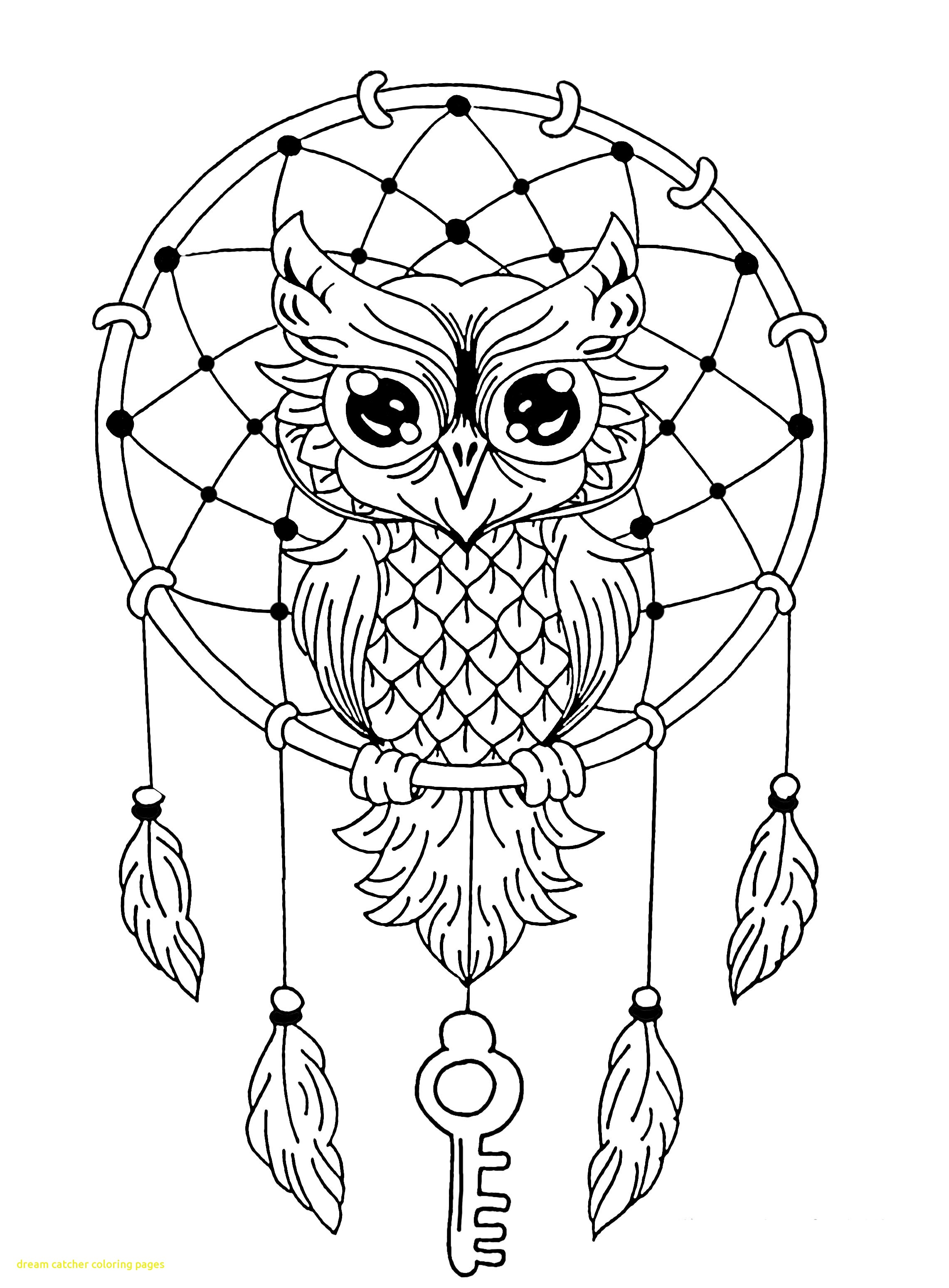 2283x3099 Dream Catcher Coloring Pages With Owl Dreamcatcher Animals