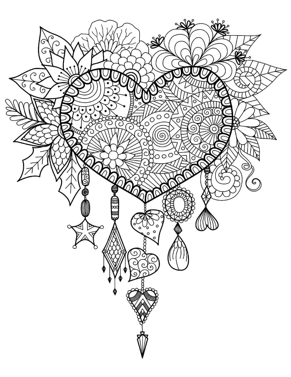 1226x1585 Dream Catcher Coloring Pages With Dreamcatcher Coloring Page