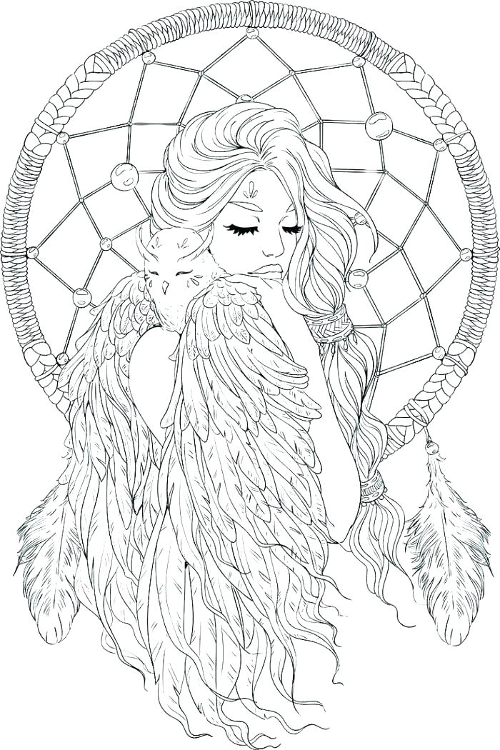 700x1050 Dreamcatcher Coloring Pages Get The Coloring Page Dream Catcher