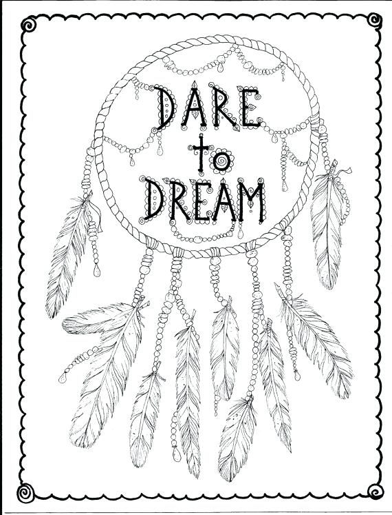570x747 Simple Dream Catcher Coloring Pages Butterfly Page Instant