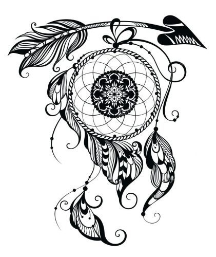 It is a picture of Rare Printable Adult Coloring Pages Dream Catchers