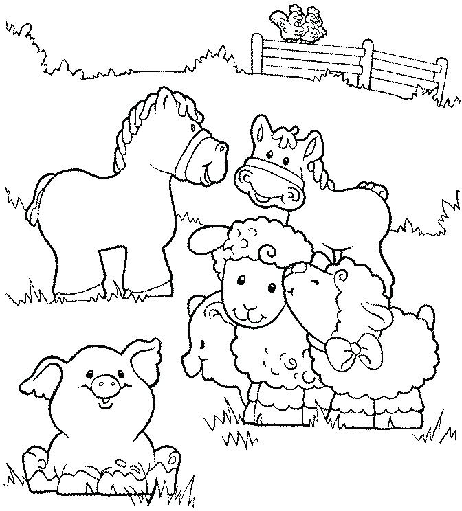 672x744 Farm Coloring Page Farm Animal Coloring Page Free Pages Farm