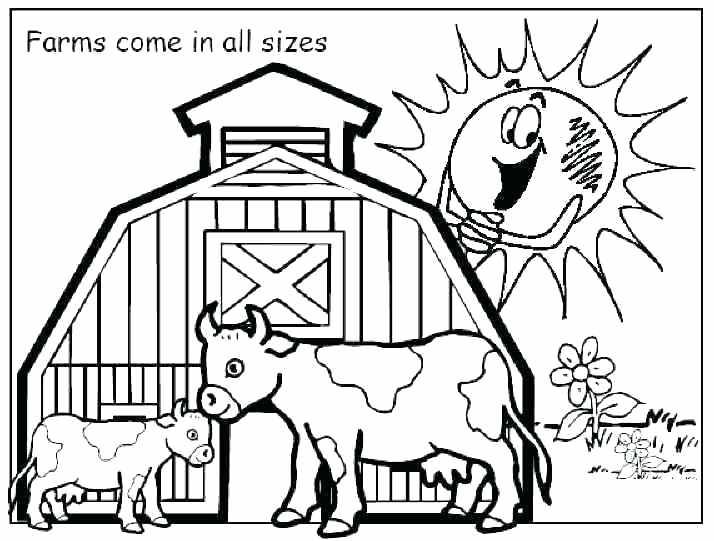 714x541 Printable Farm Coloring Pages Best Farm Coloring Pages Ideas