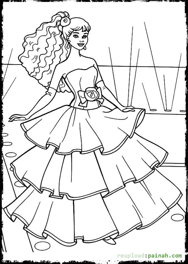Coloring Pages Of Fashion Dresses At Getdrawings Com Free For