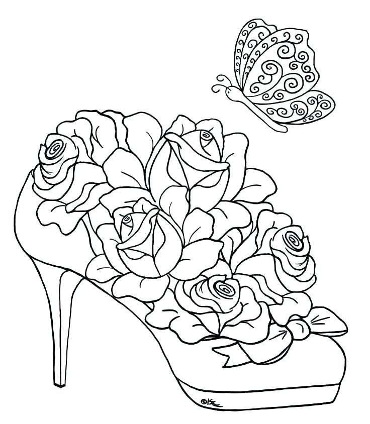 736x844 Coloring Pages Of Flowers S Coloring Pages Flowers Roses
