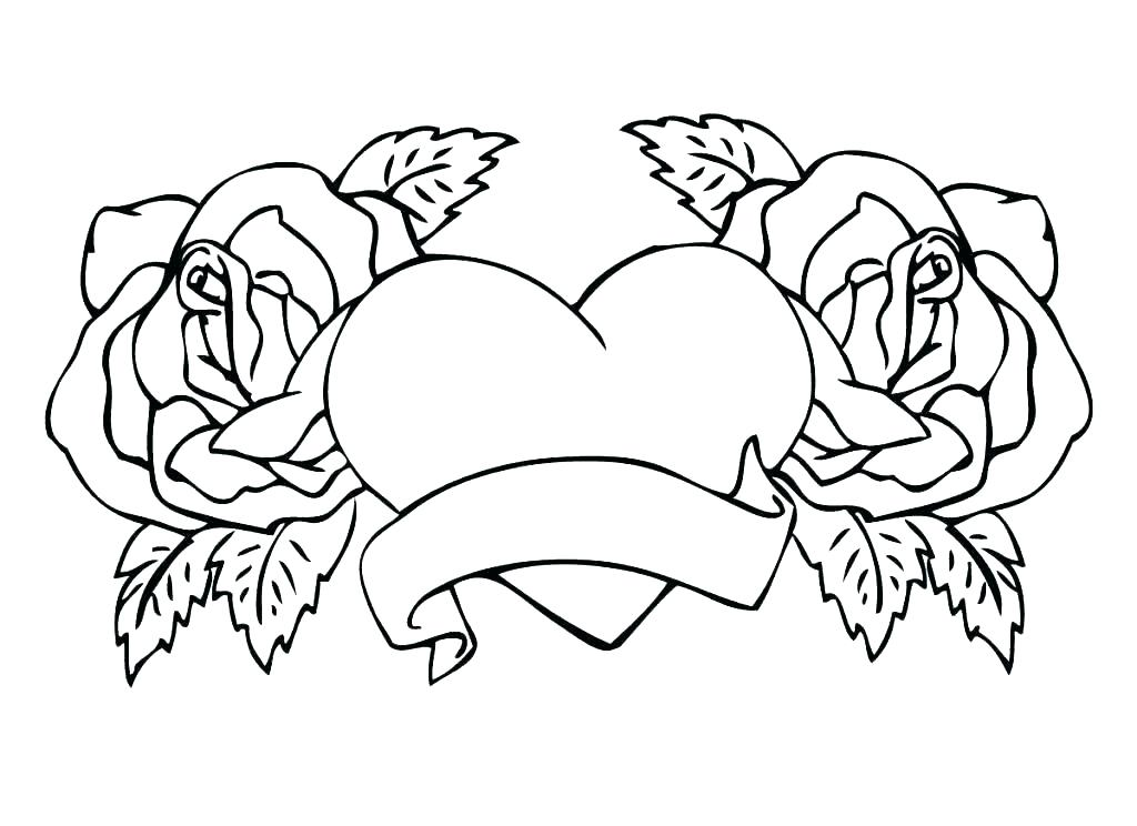 1024x744 Coloring Pages With Flowers Skulls And Roses Coloring Pages Skull