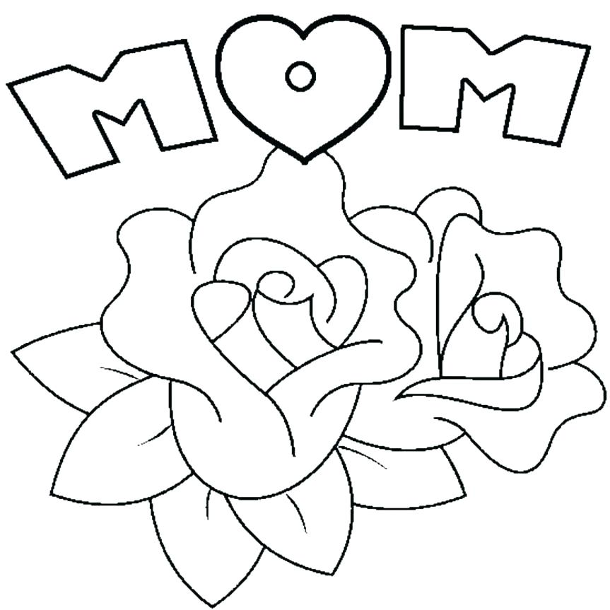 863x863 Coloring Page Of Flowers Flowers Coloring Pages Printable Easy