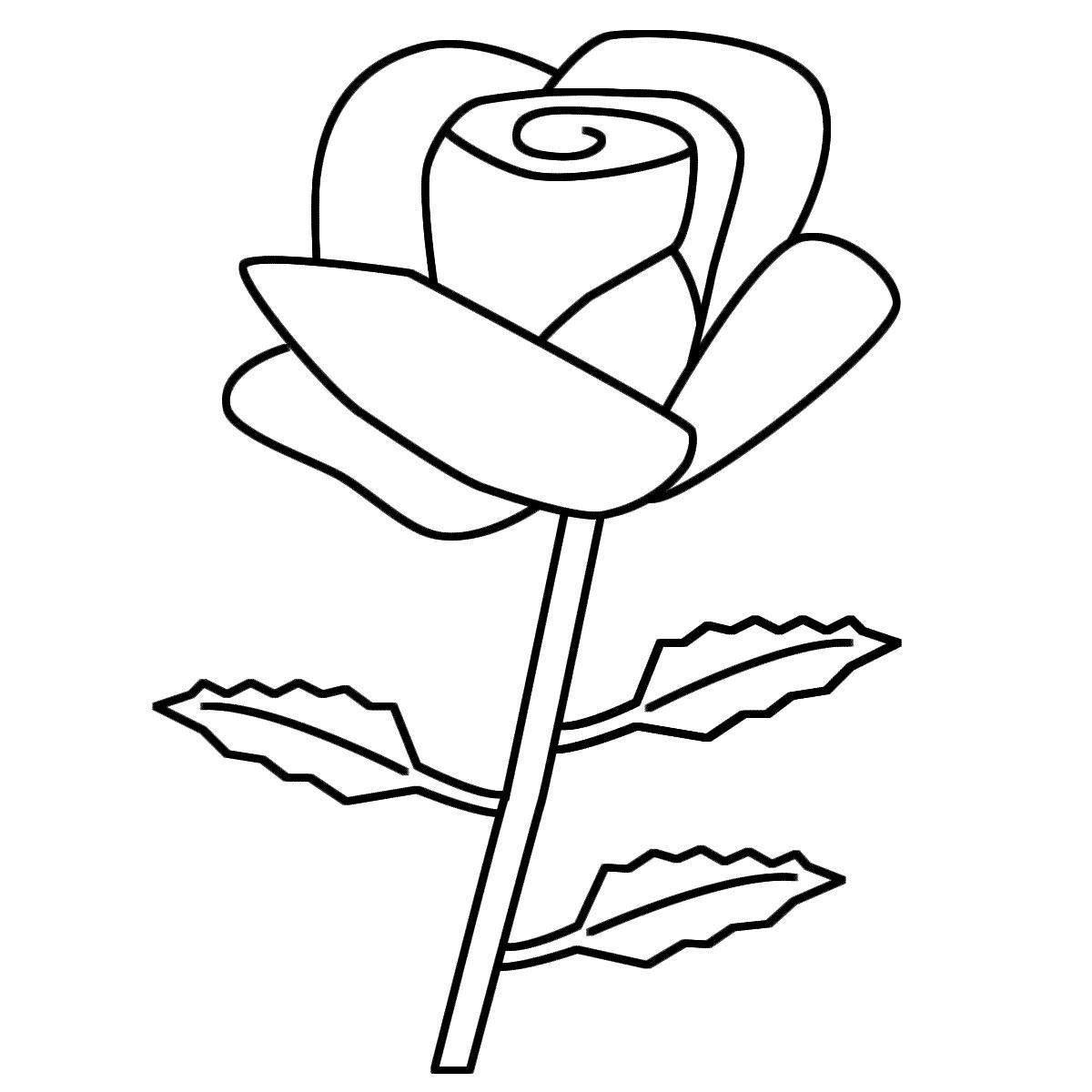 1200x1200 Coloring Pages Flowers Roses Coloring Page Fun
