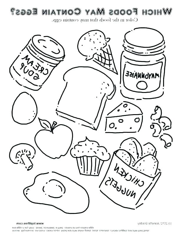618x800 Coloring Pages Of Food Colouring Pages Of Food Items