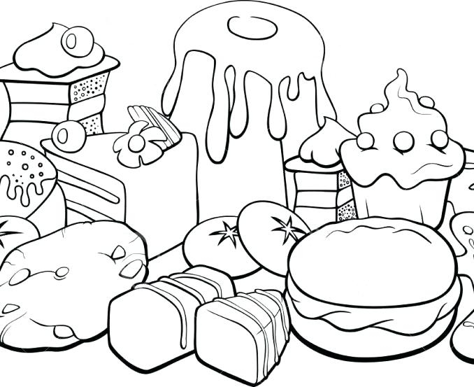 678x553 Coloring Pages Of Food Items