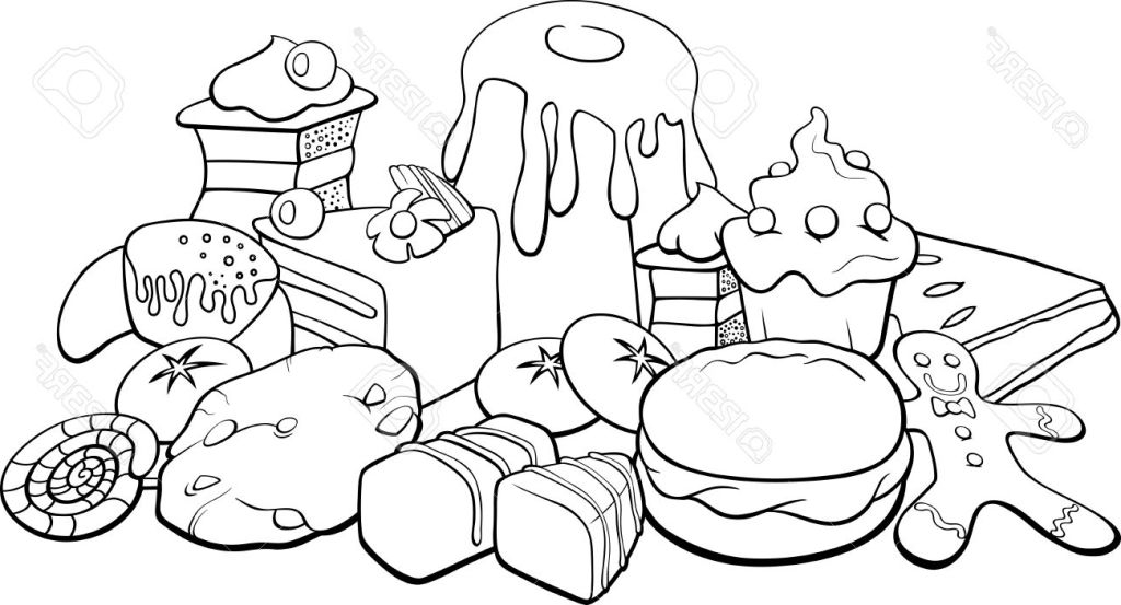 1024x553 Colouring Pages Of Food Items