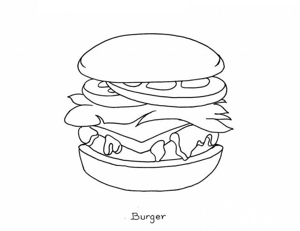 1024x791 Interesting Coloring Pages Food Items Free Pri