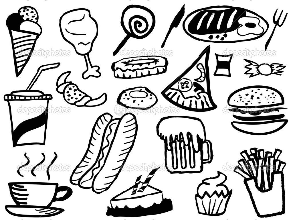 1024x768 Limited Coloring Pages Food Items Image Result