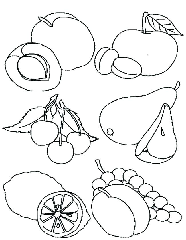 650x838 Coloring Pages Of Food