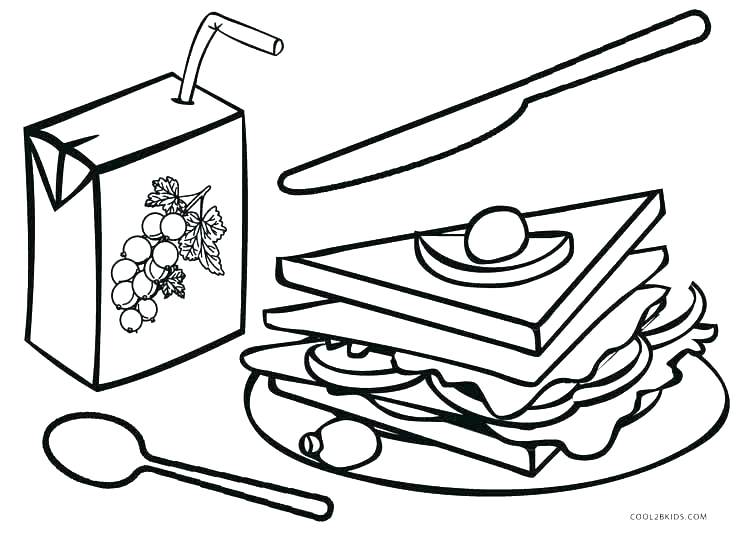 750x536 Coloring Pages Food Breakfast Coloring Pages Food Coloring Pages