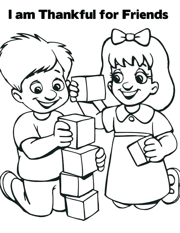 600x776 Friendship Coloring Page Coloring Pages Friends Friendship