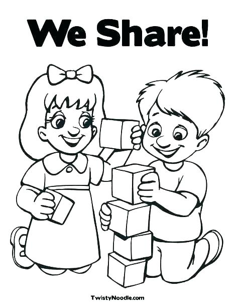 468x605 Friendship Coloring Page I Friendship Coloring Pages School