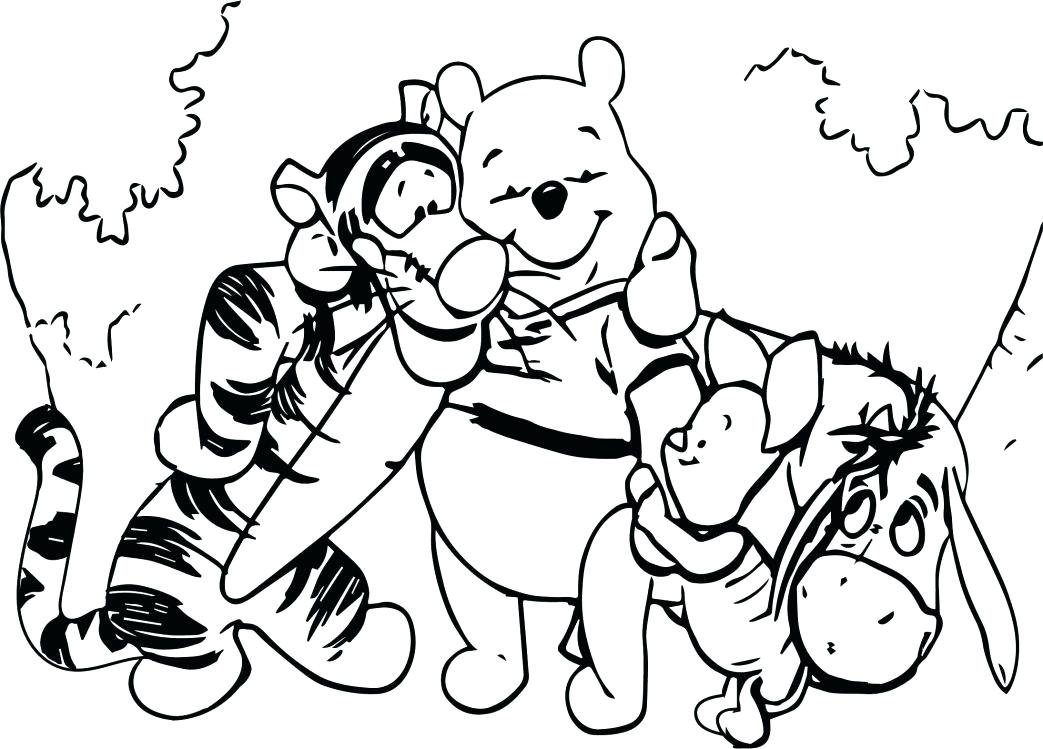 1043x749 Winnie The Pooh Halloween Coloring Pages Pooh Bear Coloring Page