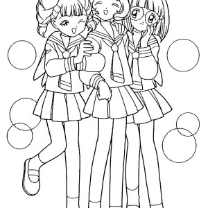 300x300 Best Friends Going To School Together Coloring Pages Best Place